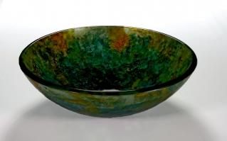 Green Round Vessel Sink