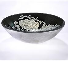 Black and White Round Vessel Sink