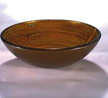 Gold and Orange Round Vessel Sink