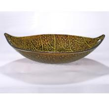 Gold Leaf Shaped Vessel Sink