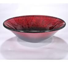 Red Round Vessel Sink