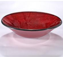 Dark Red Round Vessel Sink
