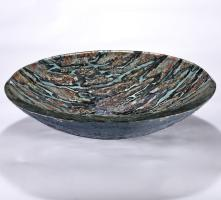 Grey and Brown Round Vessel Sink