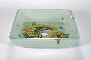 Lotus Pad Square Vessel Sink