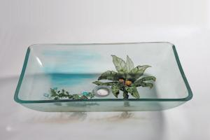 Coconut Tree Rectangular Vessel Sink