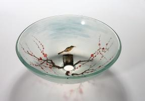Bird in the Spring Round Vessel Sink