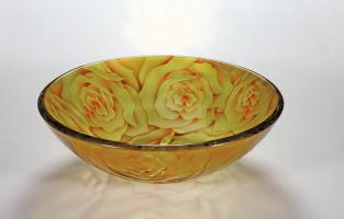 Yellow Rose Round Vessel Sink