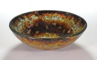 Spring Abstract Round Vessel Sink