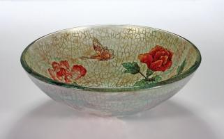 Rose Butterfly Round Vessel Sink