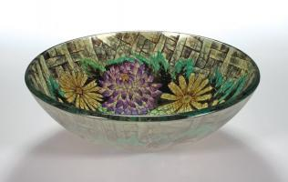 Floral in Autumn Round Vessel Sink