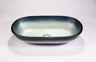 Two Tone Oval Vessel Bathroom Sink
