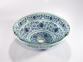 Blue Round Vessel Bathroom Sink