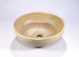 Gold Round Vessel Bathroom Sink