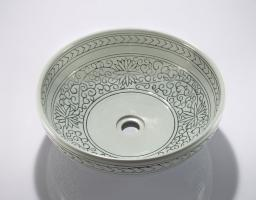 Round Porcelain Vessel Bathroom Sink