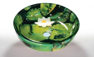Lotus Pad Round Vessel Sink
