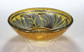Golden Leaf Round Vessel Sink