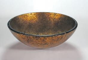 Antique Gold Round Vessel Sink