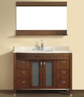 48 Inch Single Sink Bathroom Vanity with Choice of Top in Classic Cherry