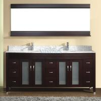 75 Inch Double Sink Bathroom Vanity with Choice of Top in Chai