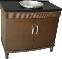 39 Inch Single Sink Bathroom Vanity with a Dark Brown Finish
