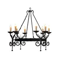 8 Light Hand Forged Wrought Iron Chandelier