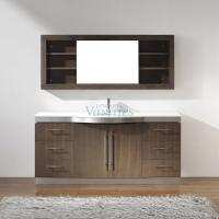 72 Inch Single Sink Bathroom Vanity with Choice of Top in Smoked Ash