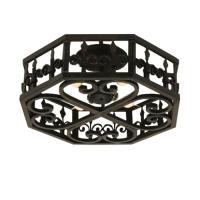 4 Light Fleur de Lis Flush Mount