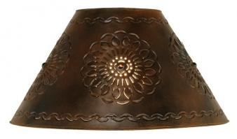 Rustic lamp shades with free shipping medium floral tin lampshade aloadofball Images