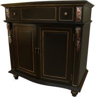 36 Inch Single Sink Bathroom Vanity with a Black Finish