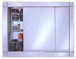 Afina Signature Collection Custom Framed Glider Door Medicine Cabinet