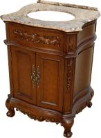 26 Inch Single Sink Bathroom Vanity in Mahogany