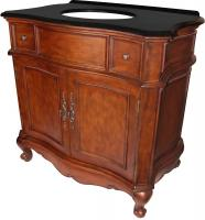 36 Inch Single Sink Bathroom Vanity in Mahogany