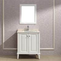 30 Inch Single Sink Bathroom Vanity with Choice of Top in White