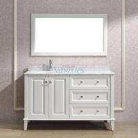 55 Inch Single Sink Bathroom Vanity With Choice Of Top In White