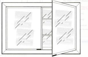 Signature Collection Custom Framed Double Door Medicine Cabinet