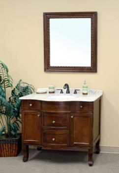 Single Bathroom Vanities on 38 Inch Single Sink Bathroom Vanity In Medium Walnut Uvbh20304538