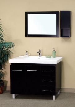 40 Inch Single Sink Bathroom Vanity In Black