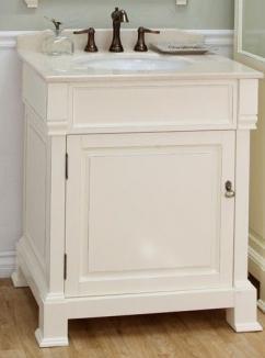 30 Inch Single Sink Bathroom Vanity In Cream White UVBH205030CR30