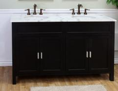 Bathroom Vanity on 60 Inch Double Sink Bathroom Vanity In Ebony Uvbh60016860b60