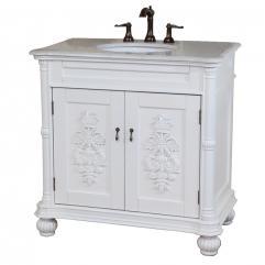 Bathroom Vanity on 36 Inch Single Sink Bathroom Vanity In White Uvbh602335whwm36