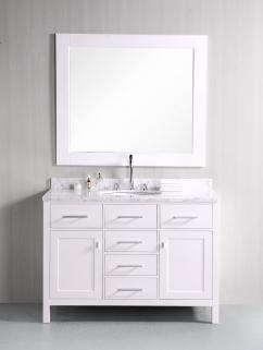 48 Inch Single Sink Bathroom Vanity In Pearl White Uvdedec076cw48
