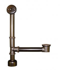 Oil rubbed bronze trip lever bath waste overflow uvntdr280orb for Oil rubbed bronze bathroom wastebasket