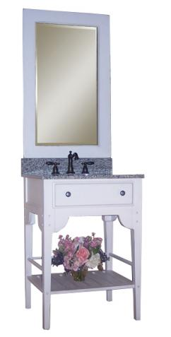 24 inch single sink bathroom vanity with choice of top uvki3402400w24