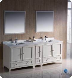 84 inch double sink bathroom vanity in antique white uvfvn20361236aw84 for 84 inch double sink bathroom vanity