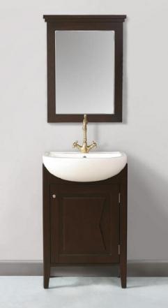 23 Inch Single Sink Unique Vanity With Mirror Uvsh612023