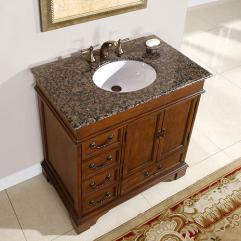 36 Inch Single Sink Bathroom Vanity with Granite Counter ...