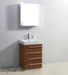 24 Inch Single Sink Bathroom Vanity With Four Drawers Uvvu50524pl22