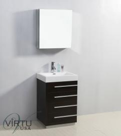 24 Inch Single Sink Bathroom Vanity With Soft Closing Drawers Uvvu50524wg22