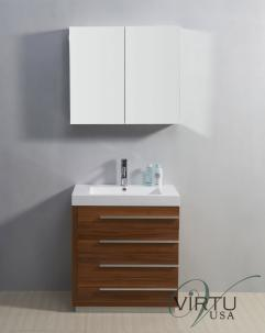 30 Inch Single Sink Bathroom Vanity with Four Drawers ...