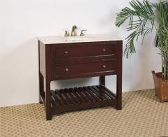 36 Inch Single Sink Bathroom Vanity With Open Shelf Uvlf1936